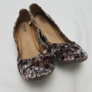 Mossimo Floral Ballet Flats Women Size 9.5